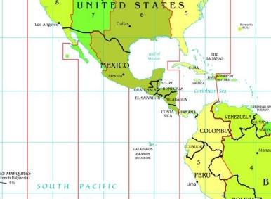 Zeitzonen Mexico